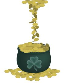 Free Pot Of Gold Stock Photography - 4379332