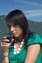 Free Woman Driking Some Wine Stock Photo - 4380700