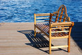 Free Bench At The Pier Stock Photo - 4380930