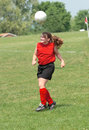 Free Teen Youth Soccer Playing Ball Off Head Stock Photography - 4384852