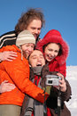 Free Friends Taking Self-portrait Royalty Free Stock Photography - 4386797