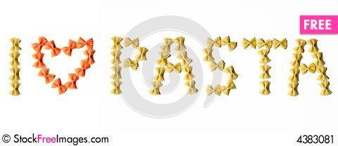 Free I Love Pasta Stock Image - 4383081