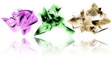 Free Purple, Green And Gold Shapes Royalty Free Stock Image - 4380066