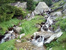 Free Rivulets In Mountain Royalty Free Stock Image - 4380166