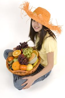 Free Fruit Basket Royalty Free Stock Photography - 4380347