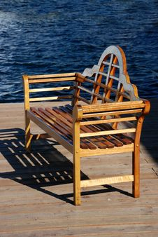 Free Bench At The Pier Stock Photography - 4380942