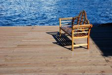 Free Bench At The Pier Royalty Free Stock Photography - 4380947