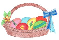 Free Easter Eggs Basket Stock Image - 4380981