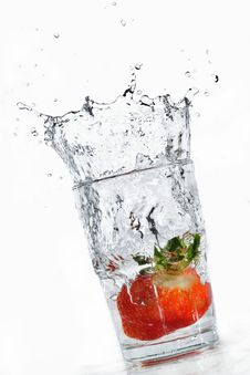 Free Strawberry Plunge Stock Photo - 4381200