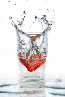 Strawberry Splash Stock Photography