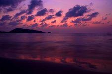 Unusual Sunset Stock Image