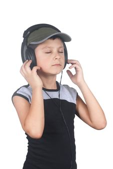 Free Young Boy Listening To Music Royalty Free Stock Photo - 4381385