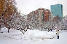 Free Boston Winter Royalty Free Stock Photography - 4381577