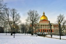 Free Boston Winter Royalty Free Stock Photography - 4381687