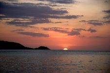 Free Sunset At Ocean Stock Photography - 4381802