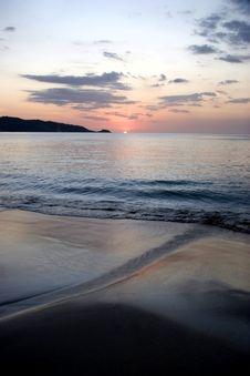 Sunset At Ocean Stock Photos