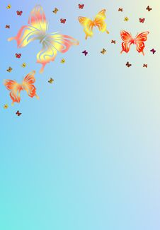 Free Butterfly Background Royalty Free Stock Image - 4381936