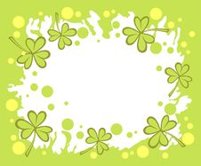 Free Green Clover Background Stock Photography - 4382092