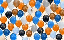 Free Colorful Party Balloons Stock Photo - 4382280