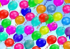 Free Colorful Party Balloons Stock Photo - 4382290