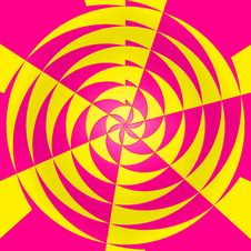 Free Pink And Yellow Radial Abstract Background Royalty Free Stock Images - 4382319