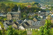 Free Church At The Mosel Royalty Free Stock Photography - 4383017
