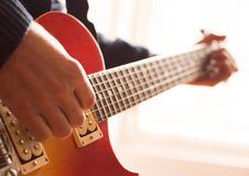 Free Practising The Guitar Royalty Free Stock Photo - 4383275
