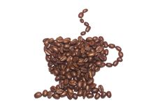 Coffee Cup Made Of Beans Royalty Free Stock Photography