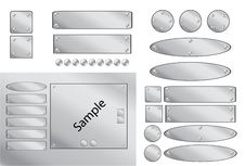 Free Steel Buttons Royalty Free Stock Photos - 4383708