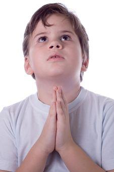 Free Boy Prays Royalty Free Stock Images - 4384149