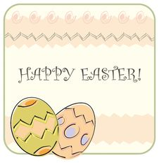 Free Easter Greeting Card Royalty Free Stock Photos - 4384548
