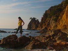 Sunset Cliff Stock Photo