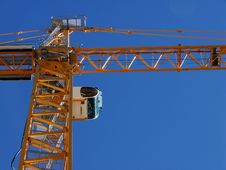 Look Up At The Crane. Stock Photos