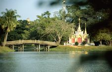 Free Small Buddhist Temple In Parc Area Royalty Free Stock Photo - 4385255