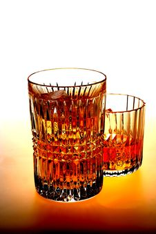 Free Highball And Whiskey On The Rocks Royalty Free Stock Photography - 4385487