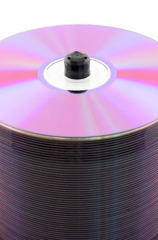 Free Purple CDs On Spindle Royalty Free Stock Photography - 4386457