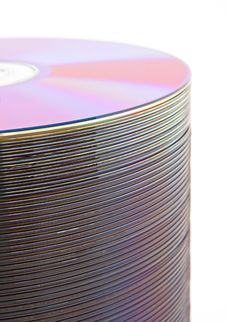 Free Purple CDs On Spindle Stock Image - 4386491