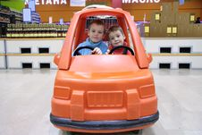 Free Children In Toy Automobile 2 Stock Image - 4387221