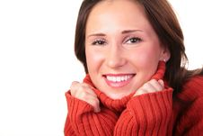 Free Portrait Of Girl In Red Sweater 3 Royalty Free Stock Images - 4387399