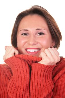 Free Portrait Of Girl In Red Sweater 2 Royalty Free Stock Photo - 4387405