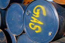 Metal Gas Drums Royalty Free Stock Photo