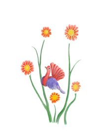 Free Flower Bird Stock Image - 4388501