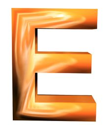 3D Golden Letters Royalty Free Stock Photos