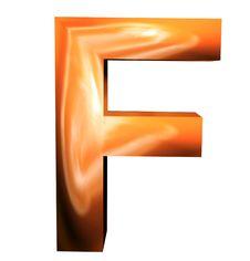 3D Golden Letters Stock Image