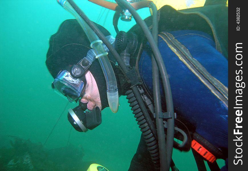 Canadian Scuba Diver in BC