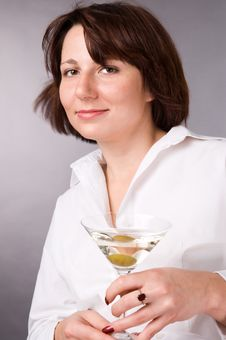 Free The Woman With A Glass Of Martini Stock Photo - 4390010