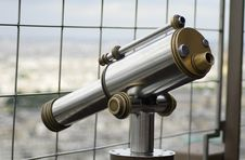 Free View Of Monocular Telescope At Eiffel Tower Stock Image - 4390451
