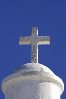 Free White Cross On A Chapel Against A Blue Sky In Port Stock Image - 4391111