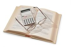 Free Calculator, Book And Glasses Stock Photo - 4391610