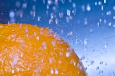 Free Water Drops - Orange Stock Photo - 4392010